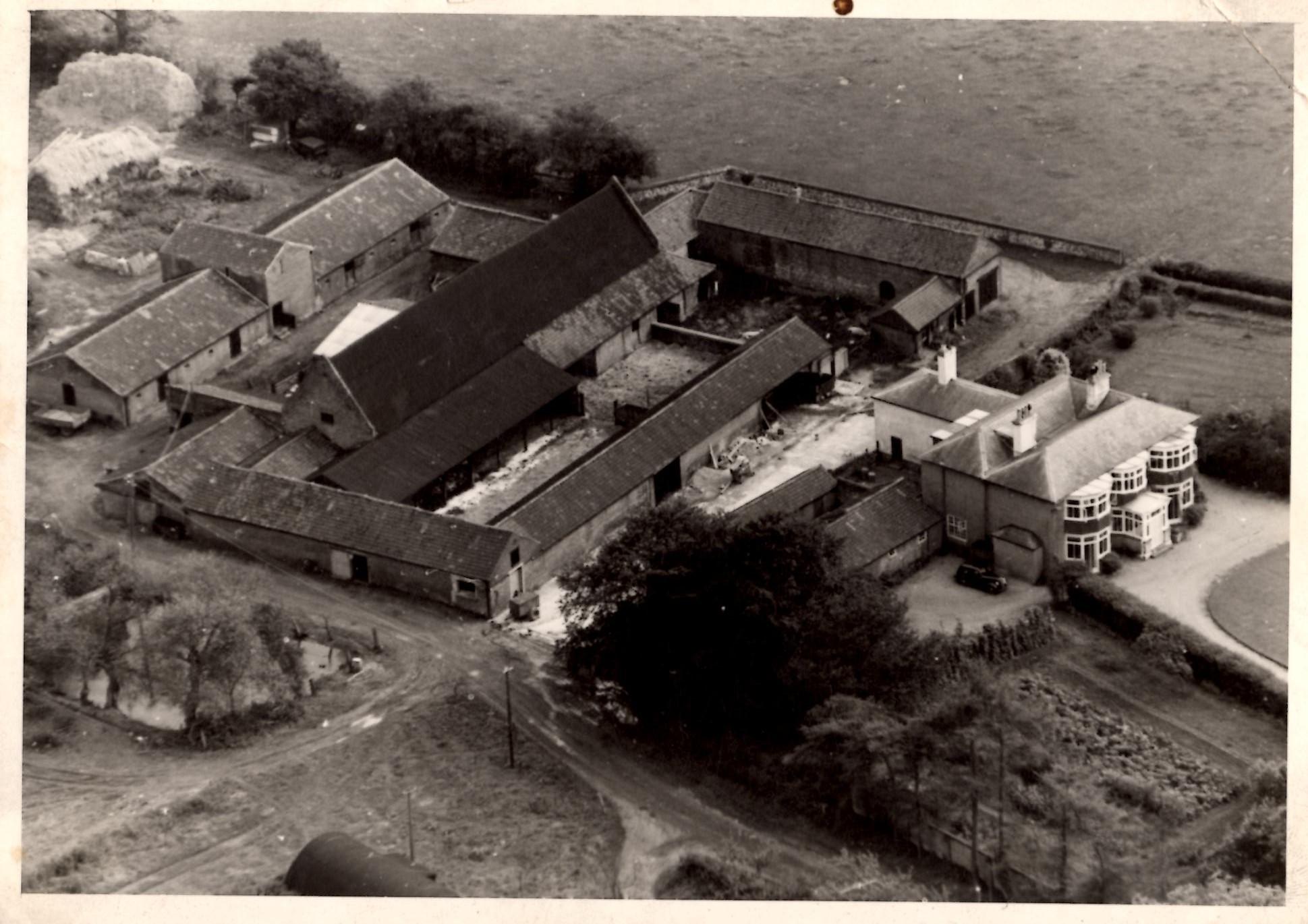 1950s Aerial View Church Farm