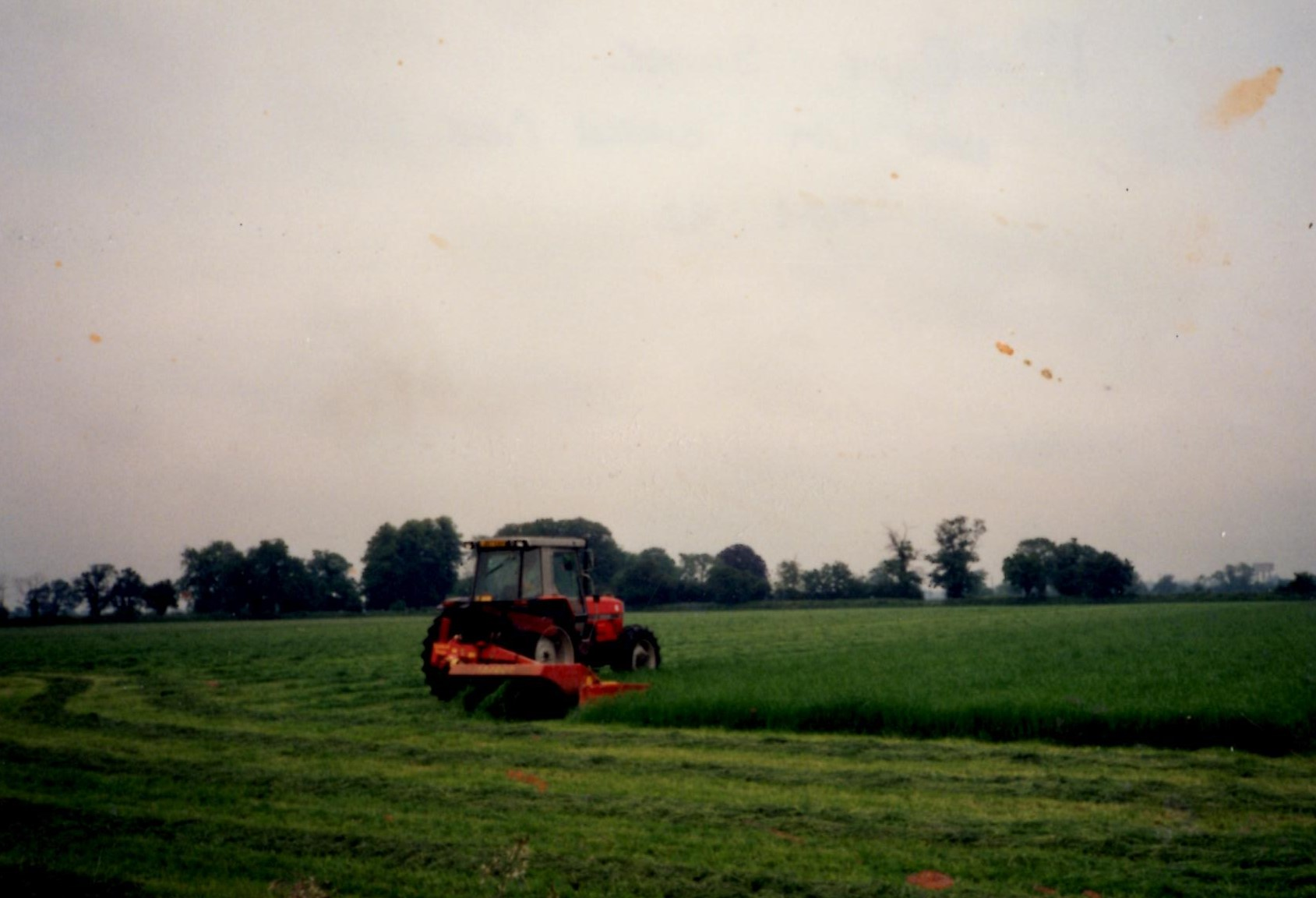 First cut of silage, May 1992